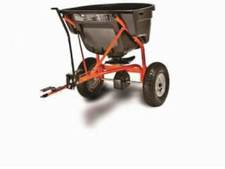 Agri Fab Broadcast spreader   large 110 pound hopper capacity 10  spreading width