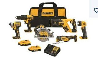 DeWalt 6 tool 20 volt Max brushless power tool Combo kit with case  2 batteries   charger included