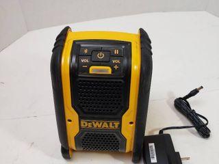 DEWAlT 20 Volt 12 Volt Max Bluetooth Speaker