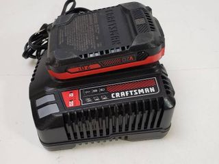 Craftsman v20 lithium ion 4 AMP Hour Battery Charger kit with battery