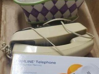 Ceramic basket. Phones