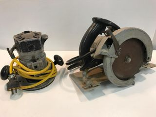 Router and circular saw. Both work