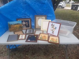 Assorted Picture Frames in Tub