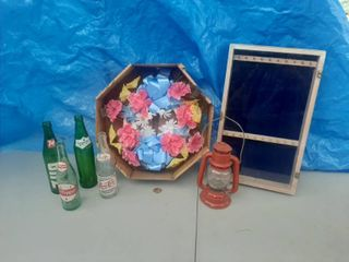Pop Bottles  Battery lantern and Display