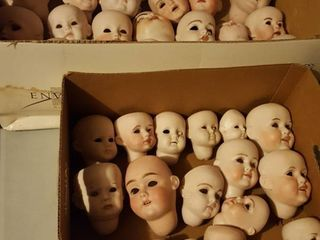 Ceramic doll heads