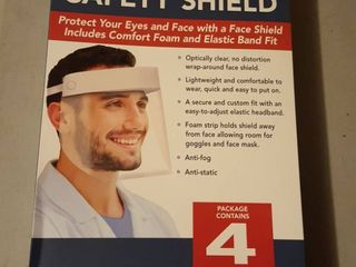 4 pk  protective full face safety Shields