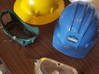 Hard hats and goggles