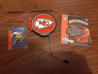 KC Chiefs Emblems and No 48 Keychain