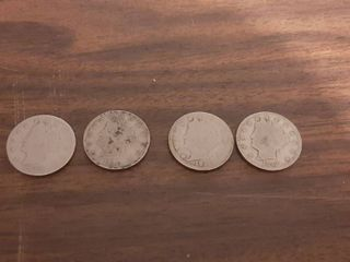 4 liberty Head V Nickels   1898  1910   2  1912