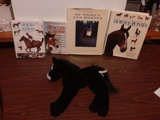 Stuffed Animal Horse and Horse Books