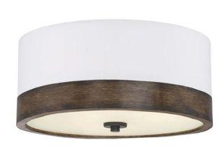 Sierra 3 light Flush Mount Ceiling light with Walnut Wood  Retail 119 99