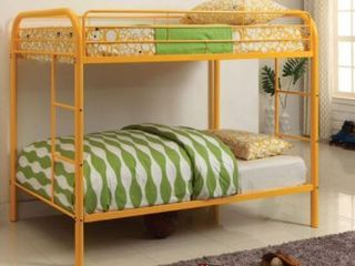 Bascom Twin Twin Bunk Bed Color Orange No Trundle