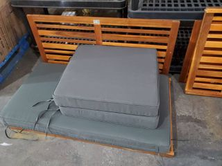 Outsunny Bench without Sides and Cushion Set