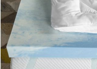 3  SealyChill Gel Memory Foam Mattress Topper with Cover  Retail 150 97