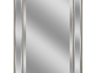 Headwest Metro Beaded Wall Mirror   Champagne Silver   24 X 36  Retail 122 49