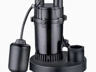 Utilitech 1 3 Hp Aluminum Submersible Sump Pump 40 Gpm Tethered Switch  0955622