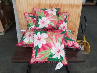 SET OF 6 AllEN AND ROTH OUTDOOR PIllOWS