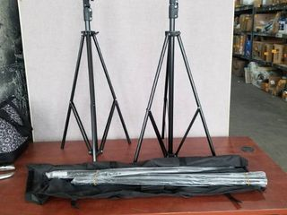TRIPOD SET WITH 2 TRIPODS AND ATTACHMENTS