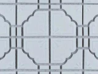 SomerTile 11 75x11 75 inch luna Matte White Porcelain Mosaic Floor and Wall Tile  10 tiles 9 79 sqft  Retail 132 49