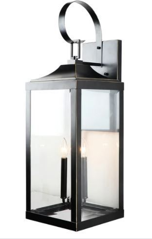 3 light Outdoor Wall lantern in Imperial Black  Retail 222 99