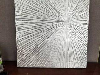 Madison Park Signature Sunburst Silver Resin Dimensional Palm Box  Retail 89 99