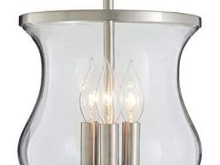 allen   roth Yately 8 66 in W Brushed Nickel Clear Glass Semi Flush Mount light