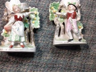 2 Made in Japan Porcelain Figurines