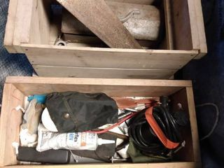 2 Crates of Miscellaneous Garage Items