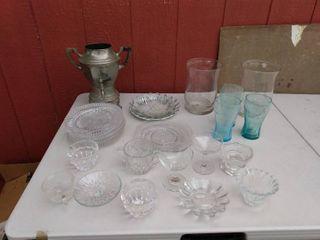 lot of Decorative Glass Kitchen Items