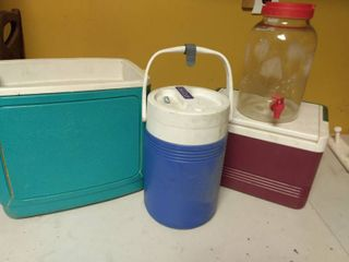 lot of Coolers and Water Dispenser