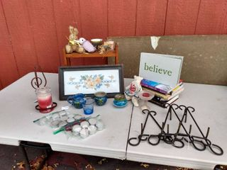 lot of Home Decor Items and books