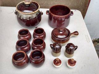 West bend pottery set