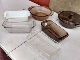 lot of Assorted Pyrex Cooking Dishes