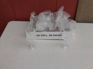 long champ wine glasses 24  lead crystal