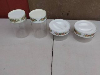 Pyrex canister set