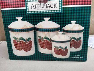 Applejack canister set