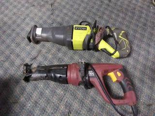 2 Saw zaws  Ryobi and Chicago Electric Power Tools