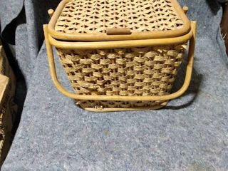 basket with dishes