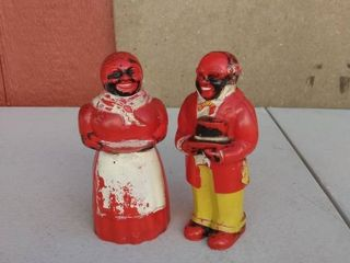 Aunt Jemima and Uncle Mose Salt and Pepper Shaker