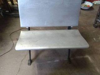 Vintage Silver Painted School Desk