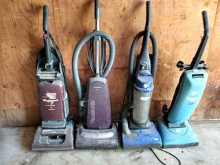 lot of four vacuums