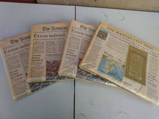 4 Vintage The Kansas City Times Newspapers