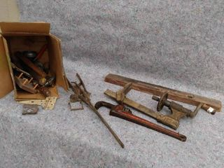 miscellaneous tools and hinges