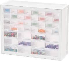 IRIS 44 Drawer Parts Cabinet  White