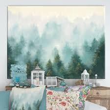 Designart   Misty Forest  Cottage Canvas Wall Art
