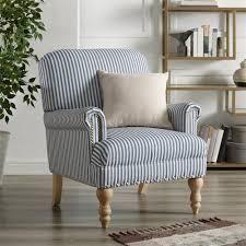 Copper Grove Tarnovo Blue striped Accent Chair  Retail 331 99