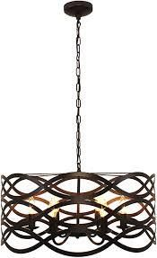 6 light Oil Rubbed Bronze Chandelier  Retail 177 99