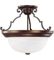 3 light Burnished Bronze Semi Flush Mount  Retail 130 00