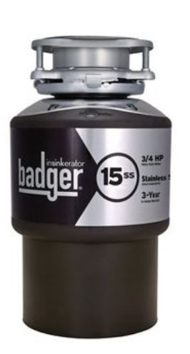 InSinkErator Badger  3 4 HP Garbage Disposal  Condition Unknown