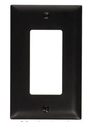 Pass  amp  Seymour 1 Gang 1 Decorator Opening Wall Plate  Nylon  Black  Set of 14